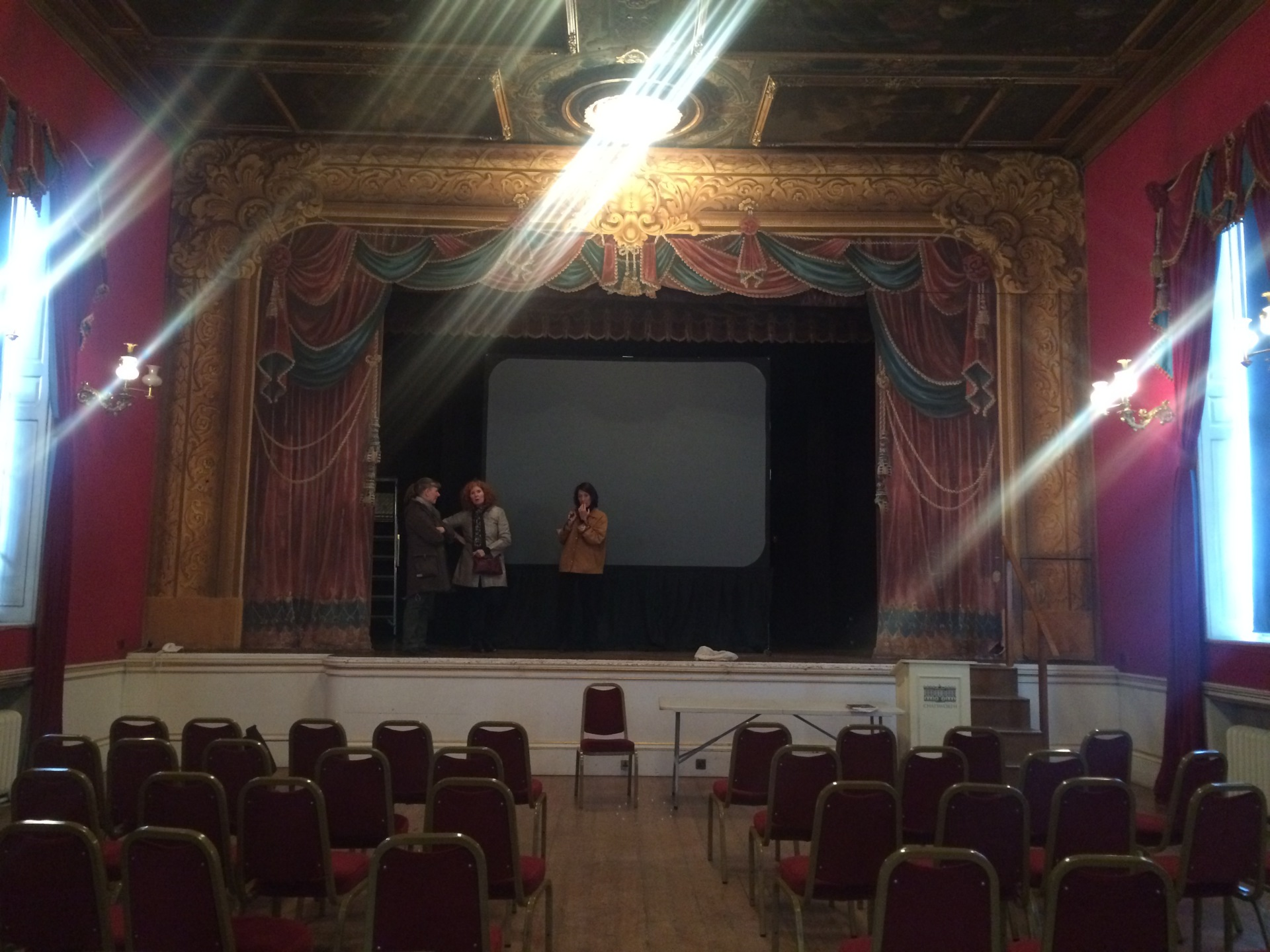 Rehearsals at Chatsworth Theatre